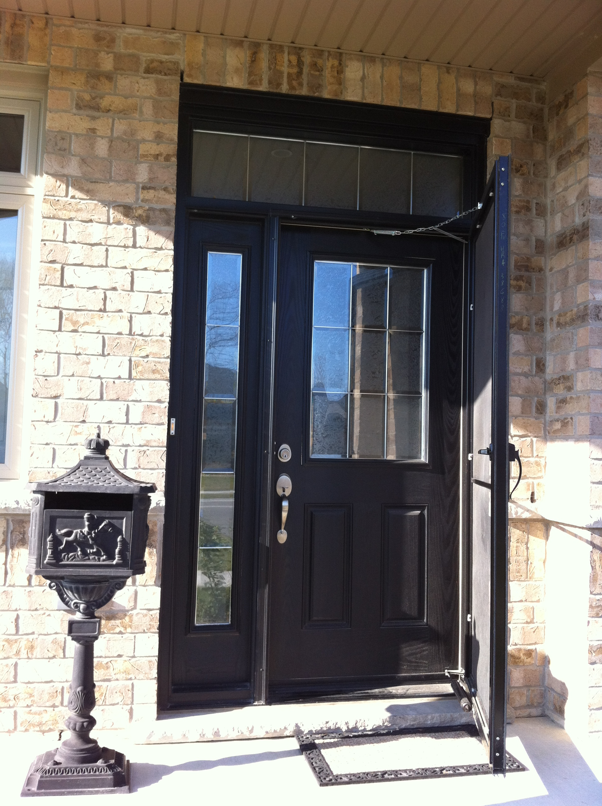 New Gentek Fiber Glass Entry Door And Storm Door