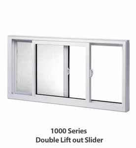 Double Lift Out Slider Window