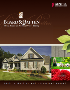 Board & Batten Ultra Premium Vertical Vinyl Siding