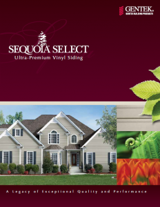 Sequoia Select Ultra-Premium Vinyl Siding