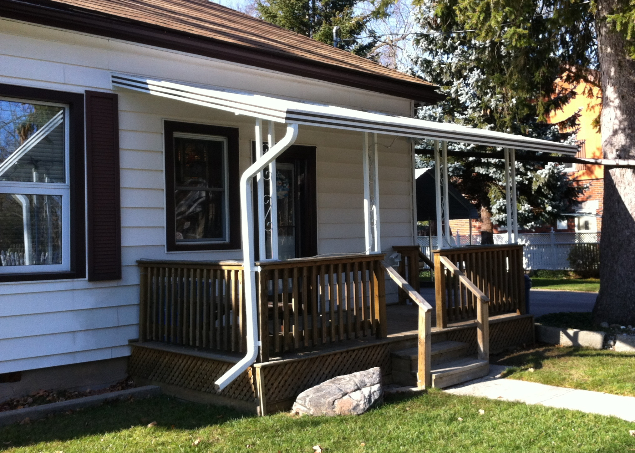 New 3-Season Sunroom Roof Awning with Gutter System