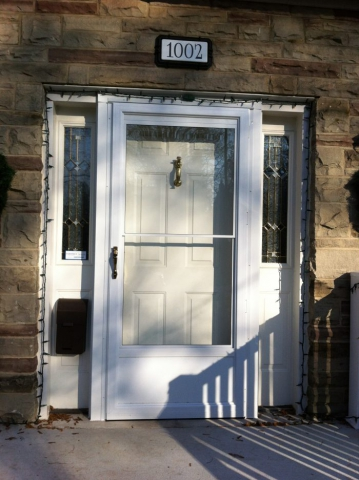 New Aluminum Storm Door