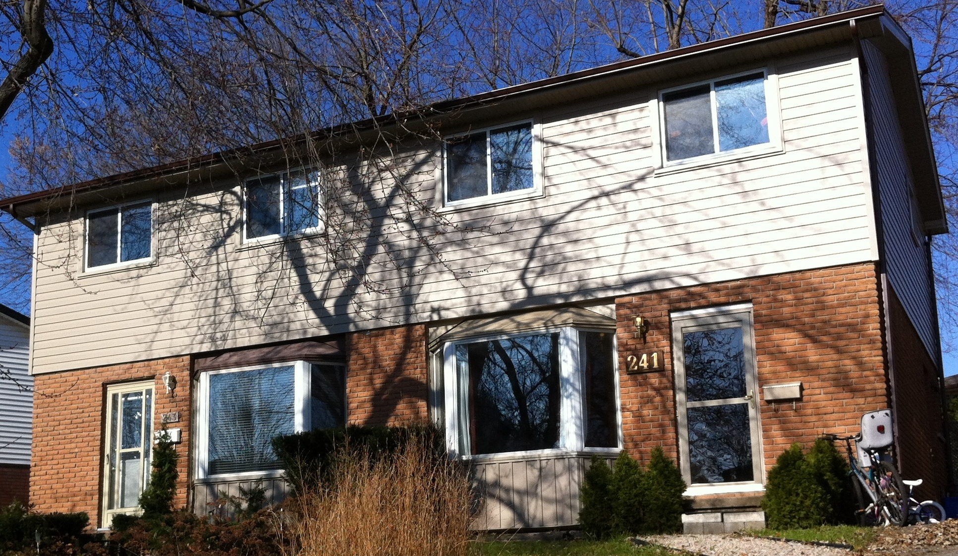 New Siding Soffit Fascia and Trough as well as New Windows on Both Units